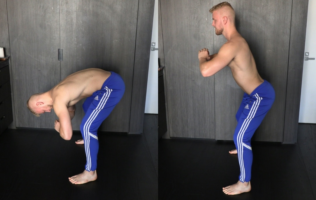 wall deadlift back pain exercise back mobility