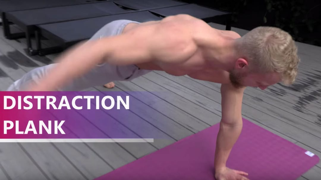 distraction plank for athlete abs
