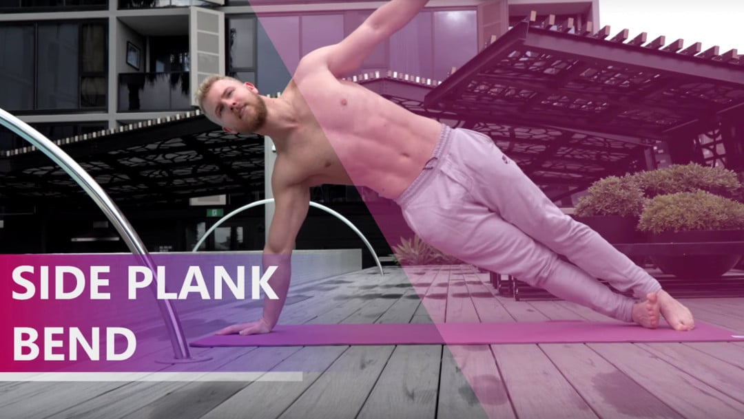 side plank bend for athletic abs
