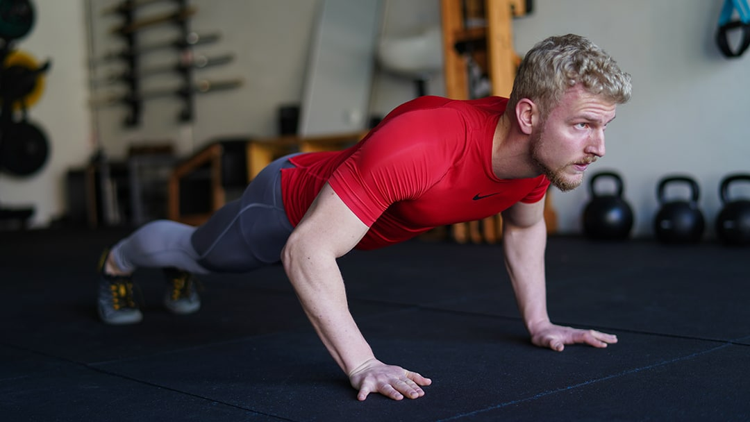 pulse push up exercise