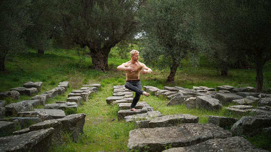 Qigong in Sparta, Greece.