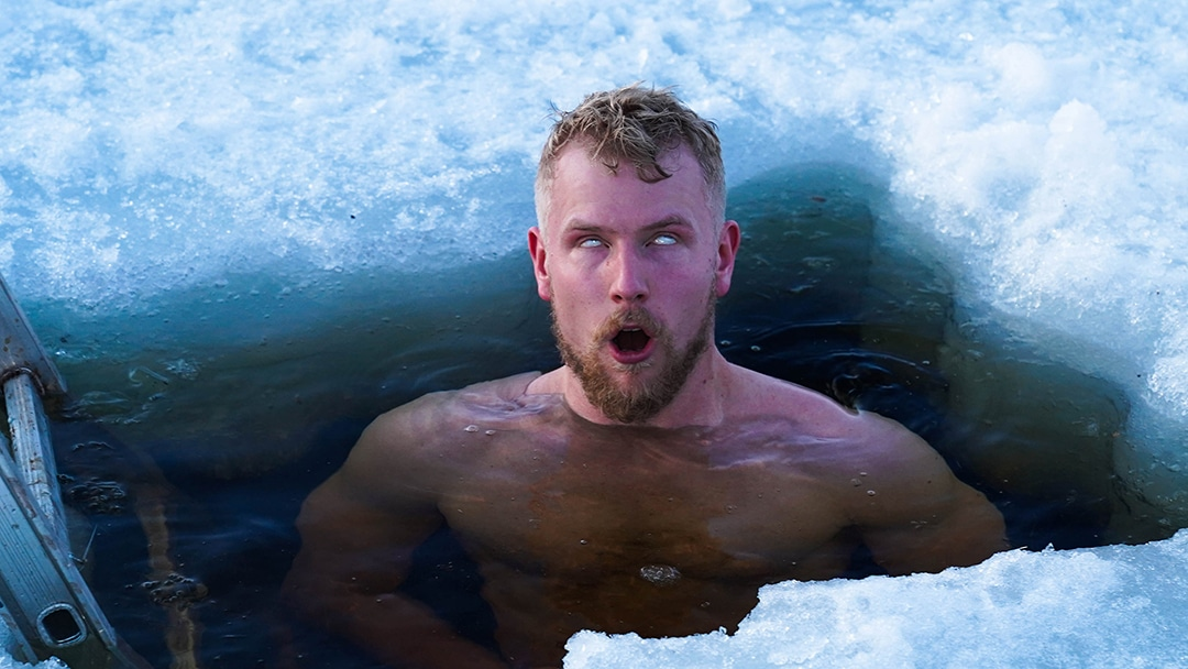 ice hole ancient viking ritual ice swimming