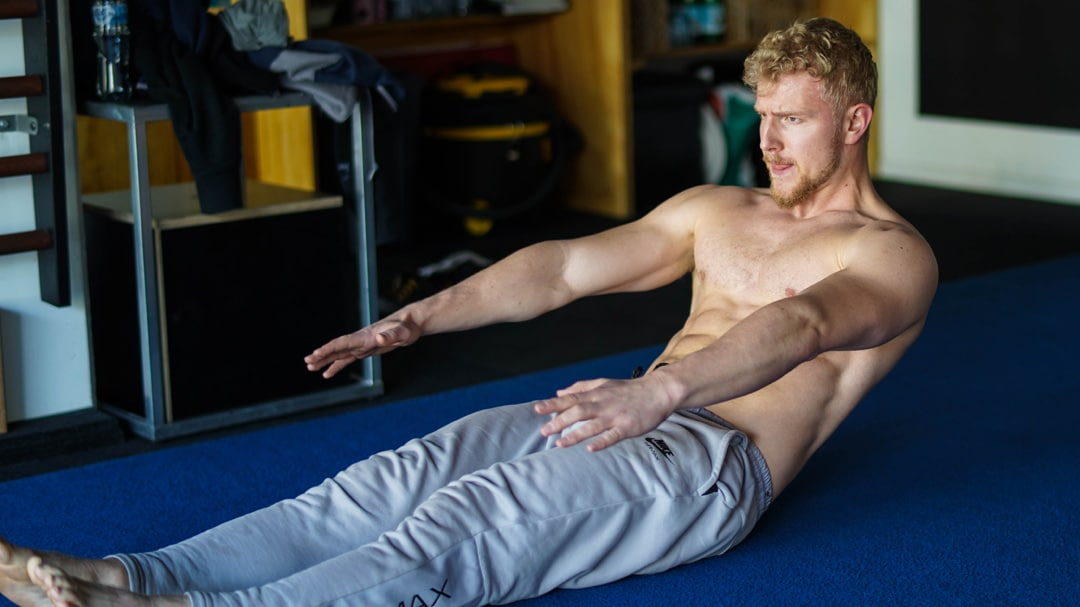 straight leg sit up core six pack abs