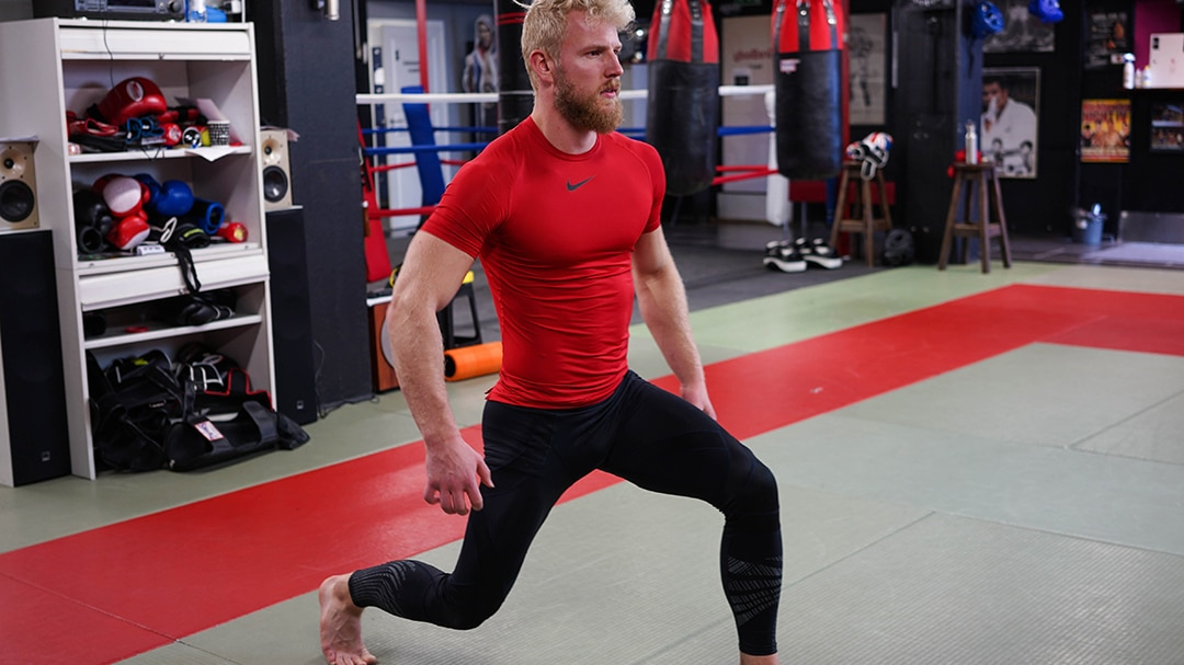 test your leg strength with lunges